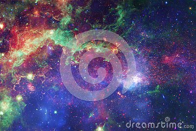 Awesome galaxy in outer space. Starfields of endless cosmos