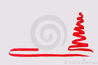 Concept with Christmas tree abstractly represented