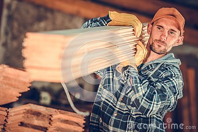 Contractor with a Planks