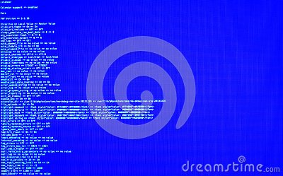 Terminal command, CLI, front view. Web security. UNIX bash shell, copy space, blue background