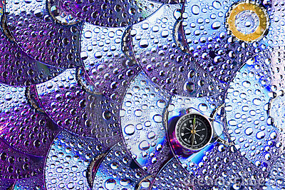 Disk and water drops