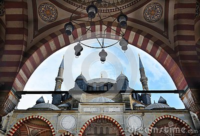 stock image of selimiye mosque in edirne