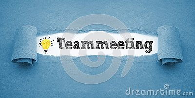 stock image of paper work with teammeeting