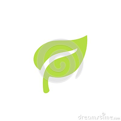 Green leaf plants icon or logo. Ecology purity and nature.