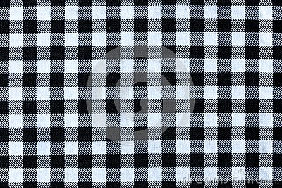 Black and White Plaid Textile Fabric Texture