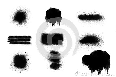 Black and white spray paint background texture