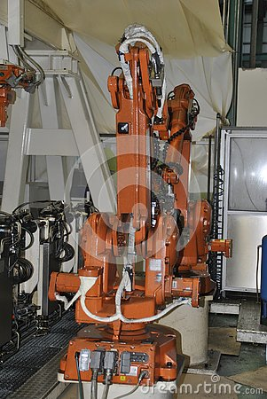 stock image of cnc industrial robot