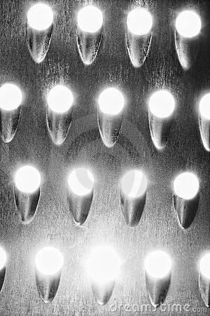 Metal texture with light holes
