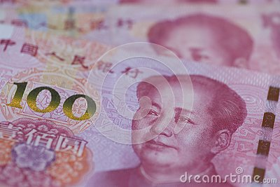The People`s Bank of China 100 yuan currency, economy, RMB, finance, investment, interest rate, exchange rate, government,