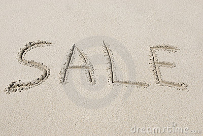 Sale Written in Sand