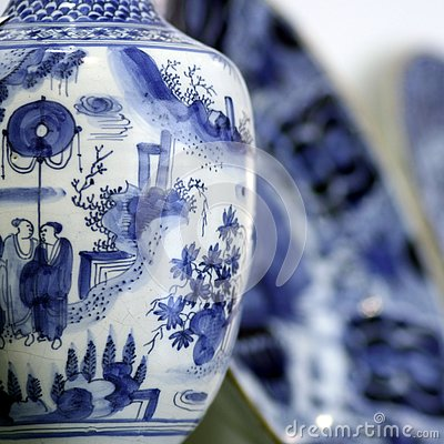 Antiques chinese pottery detail