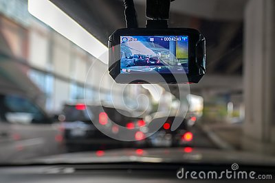 Dash Camera or car video recorder in vehicle