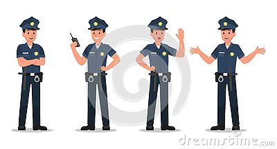 Police character vector design no1