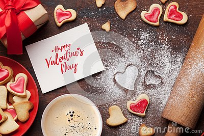 Valentine`s day greeting card