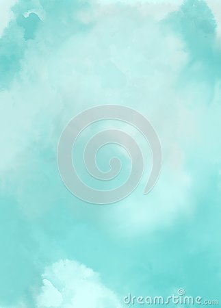 Blue sky clouds abstract art background watercolor