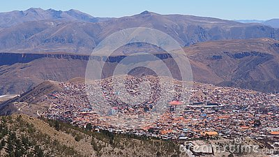 stock image of potosi – one of the highest cities in the world.