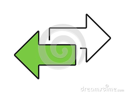 Exchange arrow transfer icon, logo. Vector isloated on white background