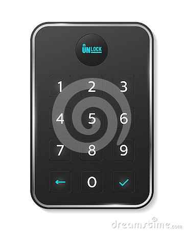 Passcode interface for lock and unlock - number keyboard