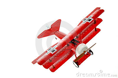 Red toy plane