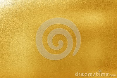 Gold texture background for design. Shiny yellow metal or foil surface material
