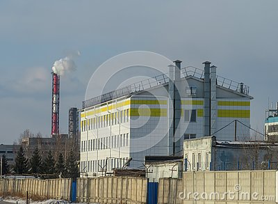 stock image of industrial equipment. environmental pollution problem.