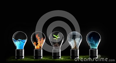 Five elements of nature air water fire earth space