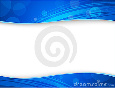 Abstract blue backgrounds for header and footer