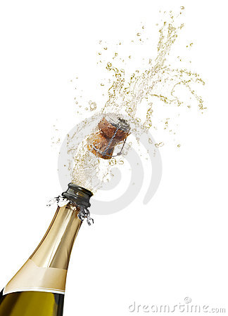 Champagne splashing