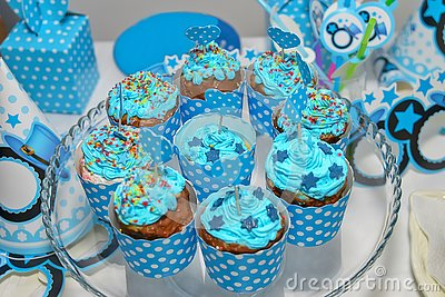 Assortment of Colorful Cupcakes