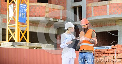 stock image of construction team communication concept. relationships between construction clients and participants building industry