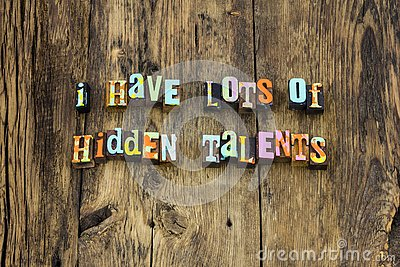 Hidden talents skills leadership ambition typography