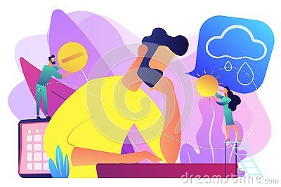Seasonal affective disorder concept vector illustration.