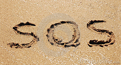 Sos in sand