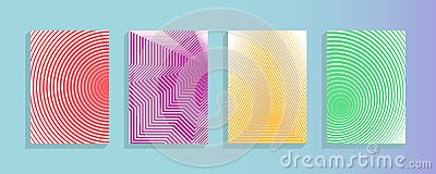 stock image of annual report design vector collection. halftone stripes texture cover page layout templates set abstract covers graphic design,