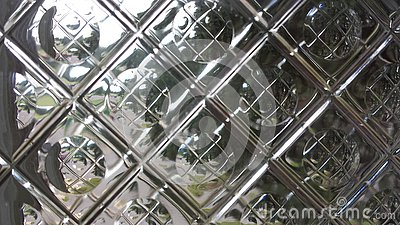 Reflections through glass tile