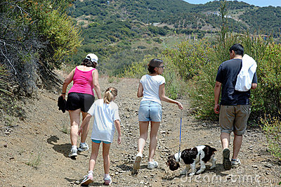Family hiking 1
