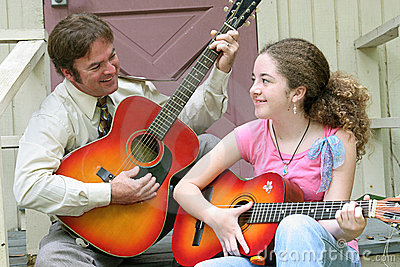 Father Daughter Guitar Laughing