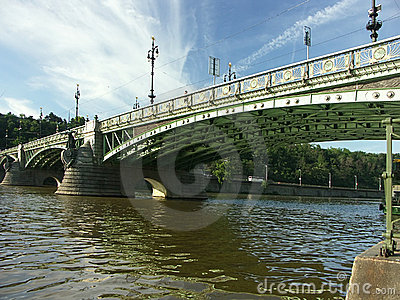 Bridge over the Veltava river
