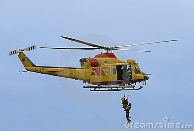 Rescue by helicopter