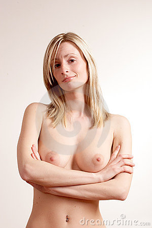 Casual healthy naked woman