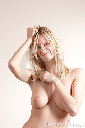 Casual healthy happy  naked woman 2