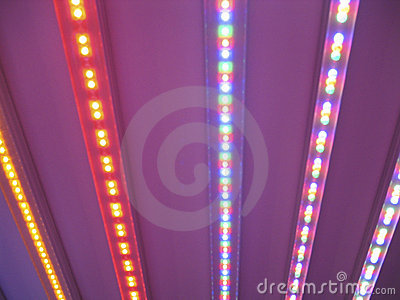 Colourful LED light stripes