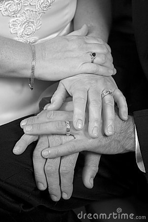 Wedding Hands B&W