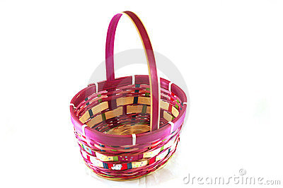 Easter Basket on White