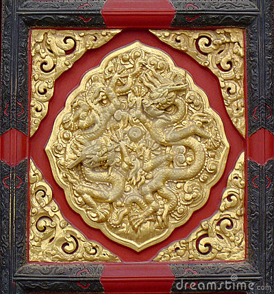 Chinese Design - door panel