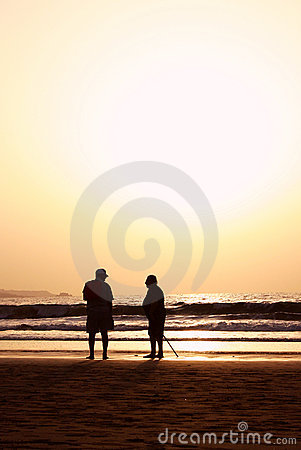 Beach Seniors Sunset