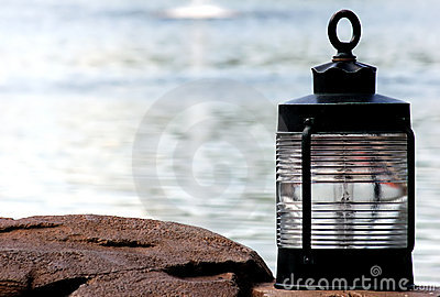 Lamp on the ocean