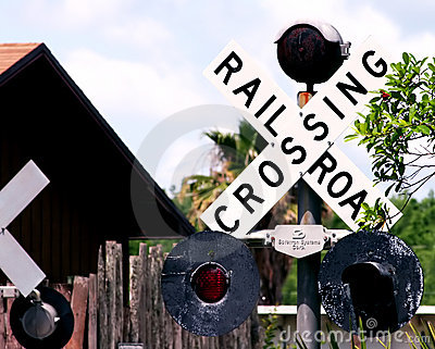Crossing railroad