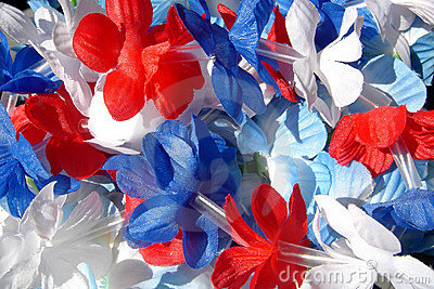 Red, White & Blue Leis