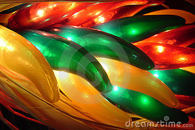 Lighted Chili Peppers